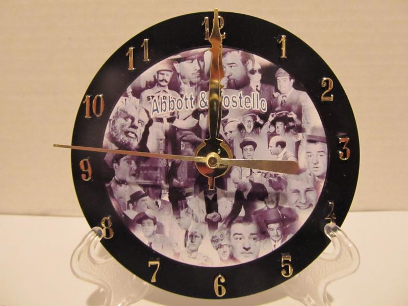 Abbott and Costello CD clock