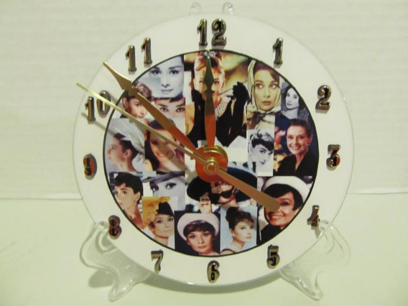 Audrey Hepburn cd clock