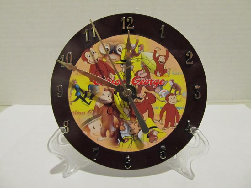 Curious George CD clock