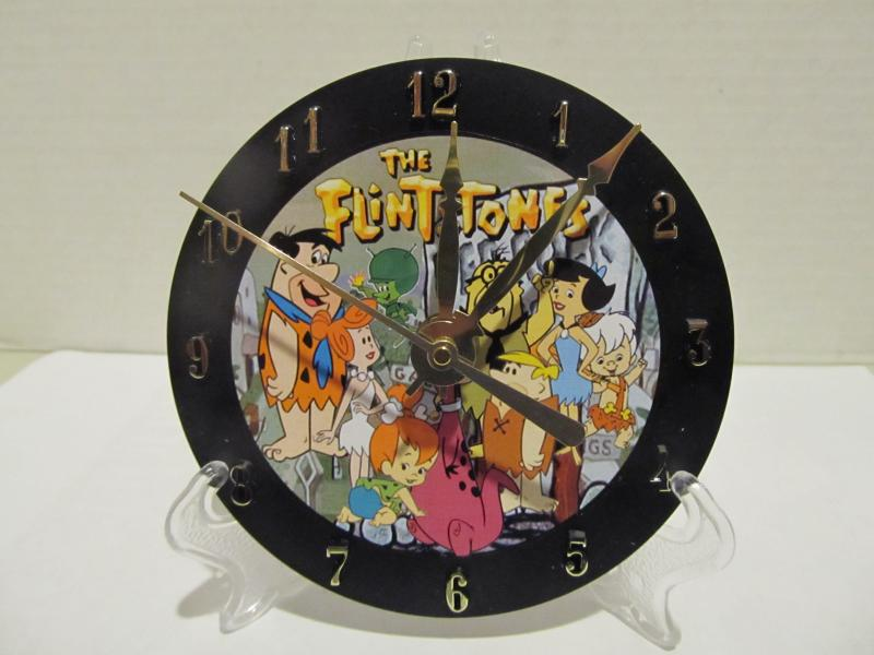 Flintstones CD clock