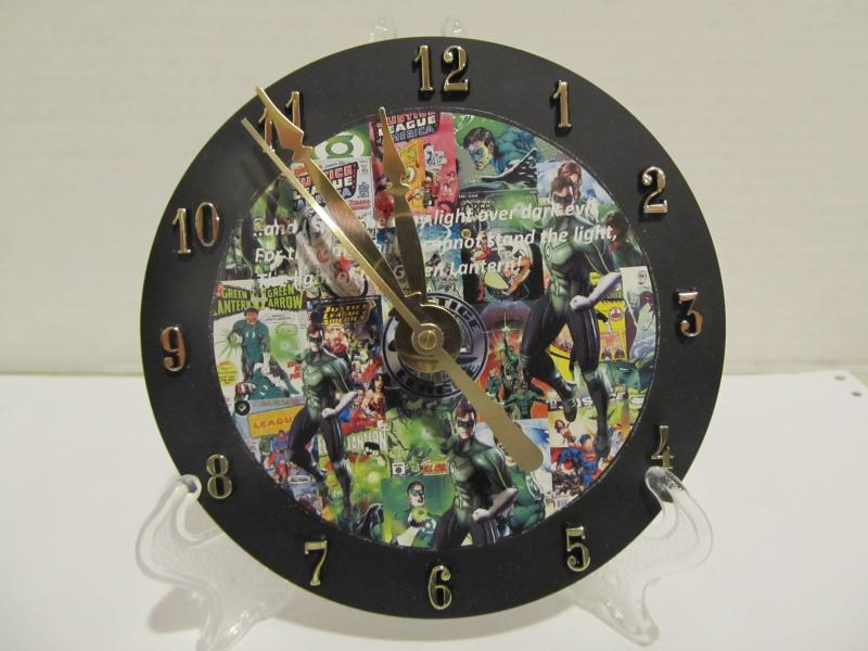 Green Lantern CD clock