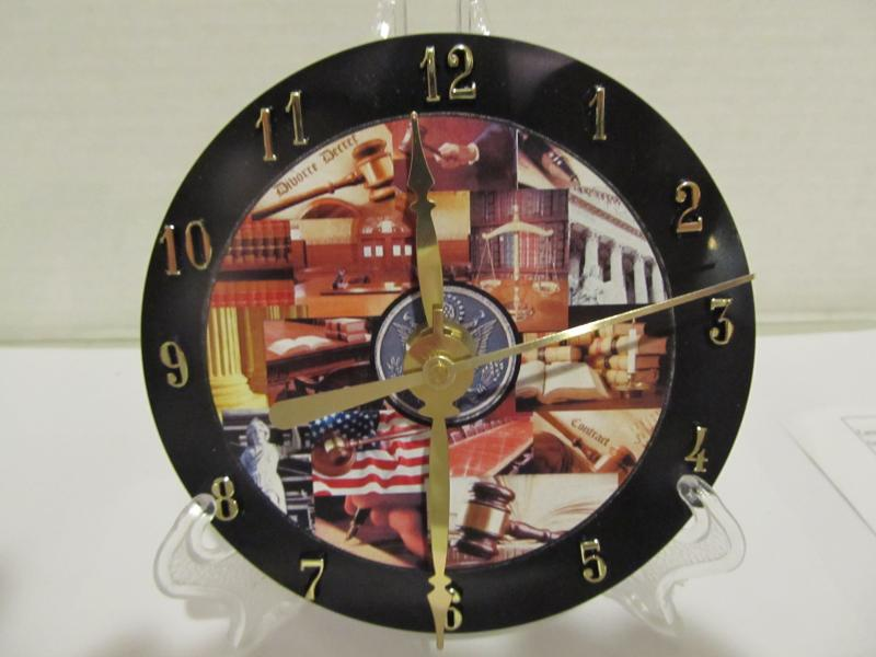 Lawyer Cd clock