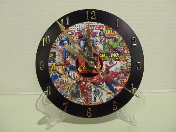 Marvel Superhero Clock