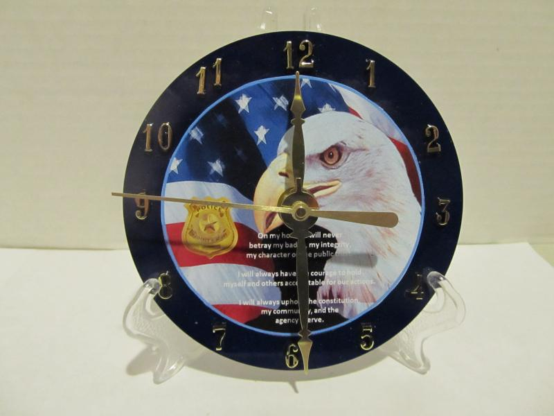 Policeman CD clock