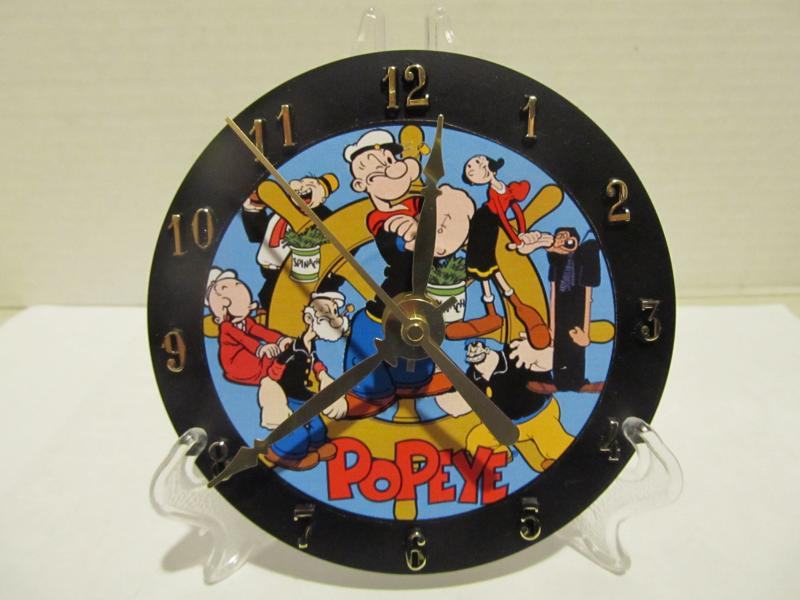 Popeye CD clock