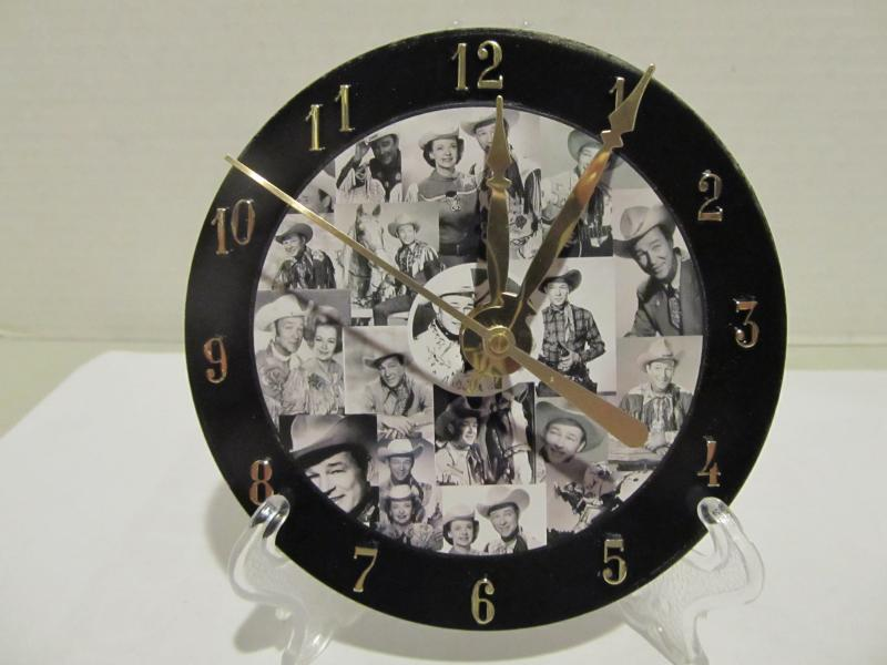 Roy Rogers CD clock