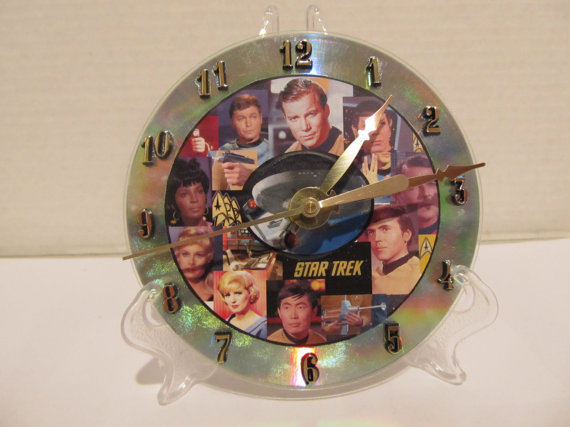 Star Trek CD clock