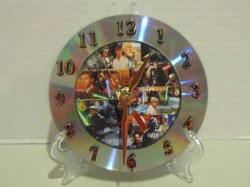 Star Wars CD clock