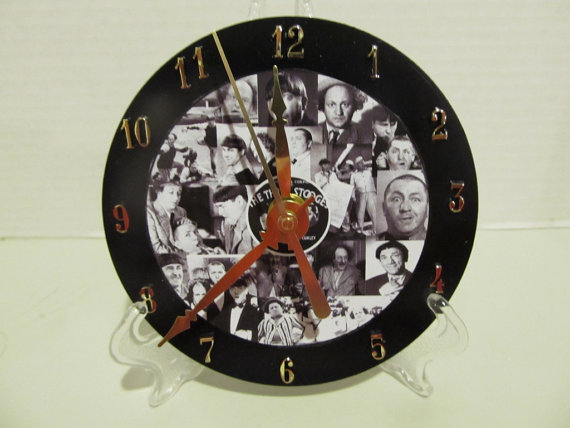 Three Stooges CD clock