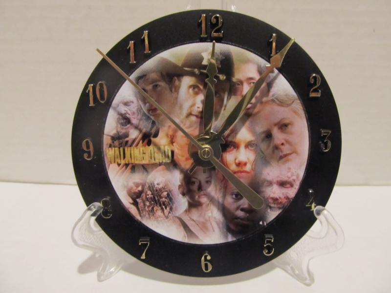 Walking Dead CD clock