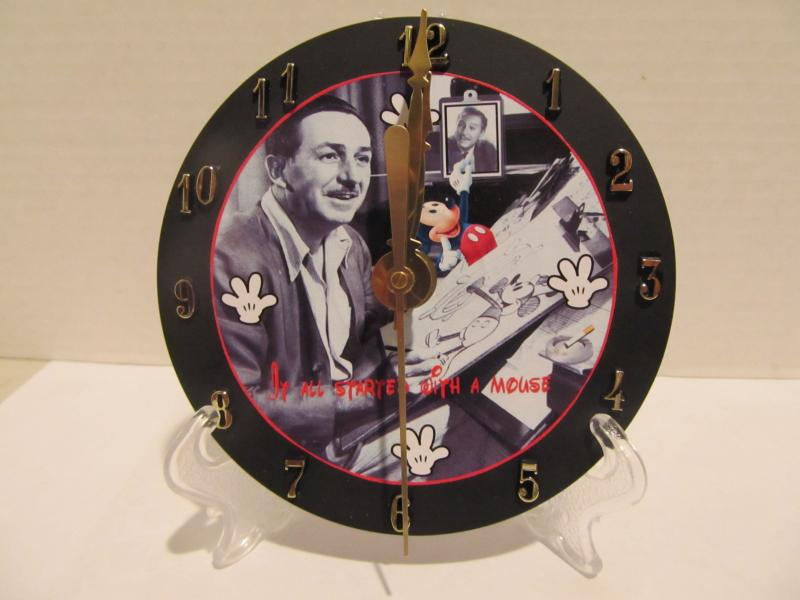 Walt and Mickey CD clock